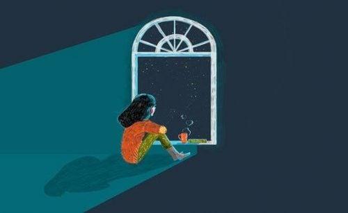 Dziewczyna w oknie