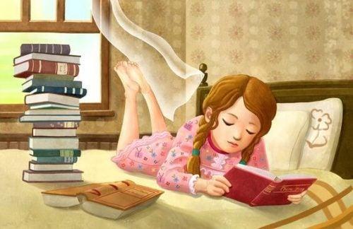 Dziewczynka czyta
