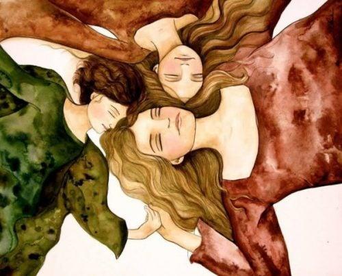 Kobiety leżące w kółku