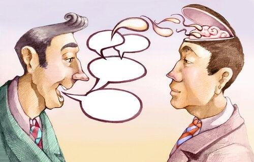 Konwersacja dwóch mężczyzn