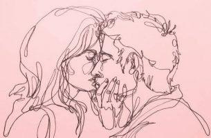 Całujący się mężczyzna i kobieta - efekty uboczne miłości