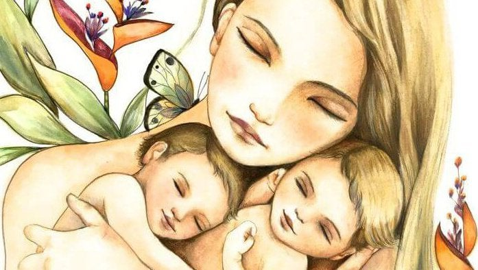 Matka z bliźniakami