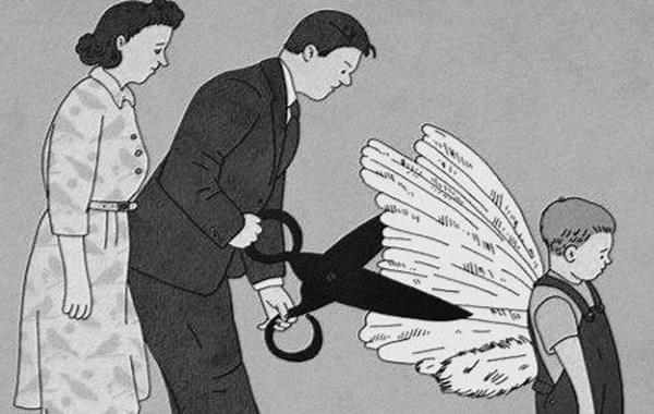 Ojciec podcina chłopcu skrzydła