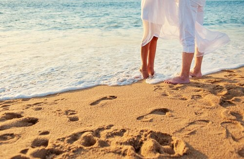 miłość i plaża