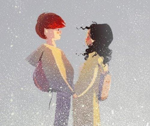 Para w śniegu