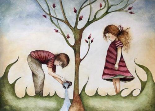 Podlewanie drzewa