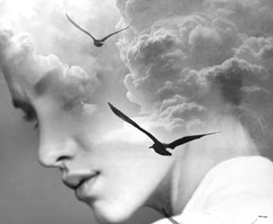 Kobieta - niebo