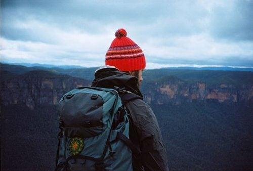 Turystka w górach