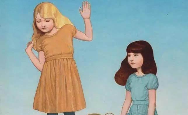 Zaufanie - dwie dziewczynki