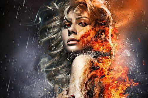 Kobieta, którą trawi ogień