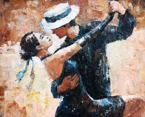 Mężczyzna i kobieta tańczą