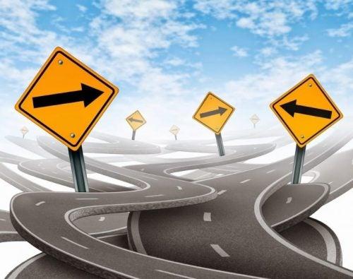 Niepewność na mylących znakach drogowych