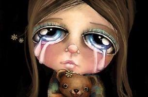 Nie płacz? Płacząca dziewczynka.