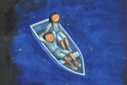 Ludzie w łodzi