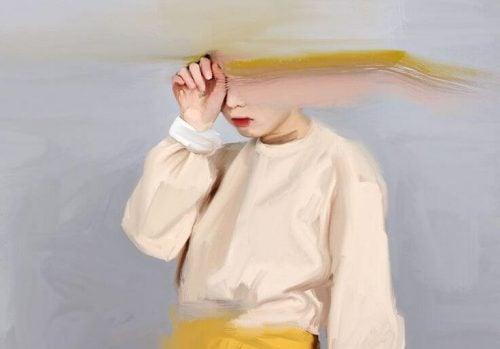 Dziecko z rozmazaną twarzą