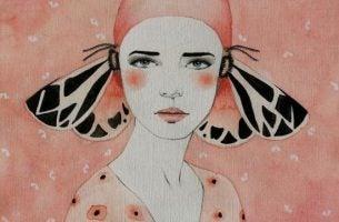 kobieta z motylami na uszach - wymówki