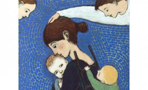 Matka ochraniająca swoje dzieci.