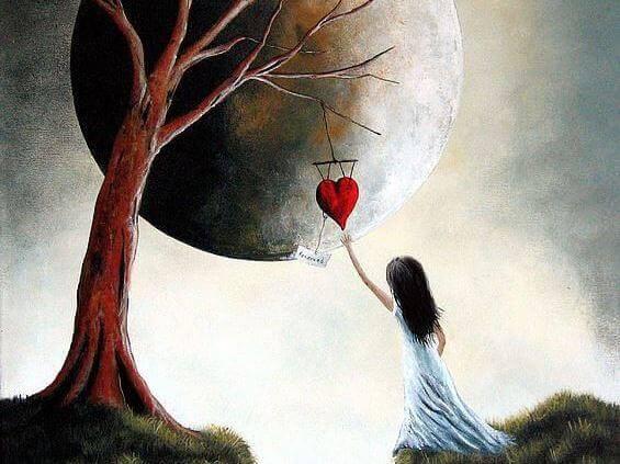 serce i dziewczynka