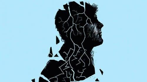 Pograniczne zaburzenie osobowości - sylwetka mężczyzny się rozpada
