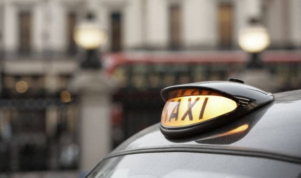 Londyńska taksówka.