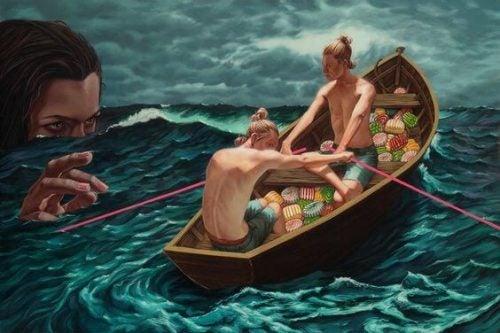 Mężczyźni na łódce