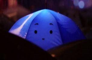 Niebieska parasolka