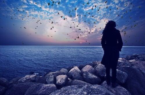 Samotna kobieta - depresja