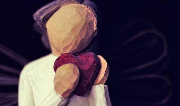 Drewniane serce.