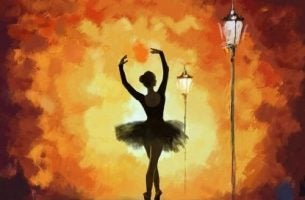 Włożony wysiłek - Tańcząca na ulicę balerina