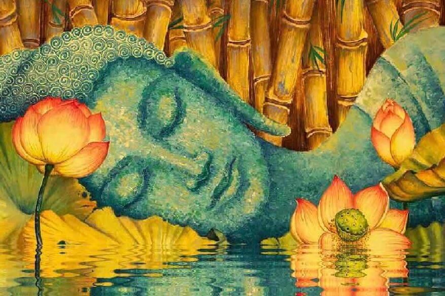 Budda śpiący w jeziorze