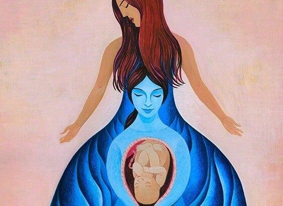Narodziny dziecka - dwie kobiety.