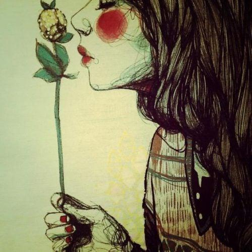 Dziewczyna z kwiatem