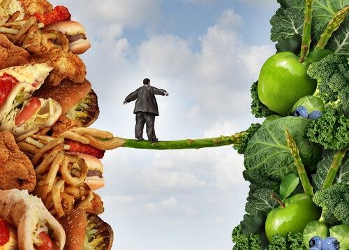 Jedzenie zdrowe i niezdrowe