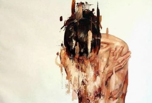 Kobieta cierpi przez niepokój