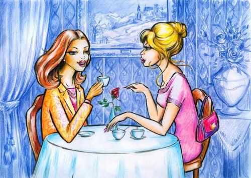 Dwie kobiety na kawie.