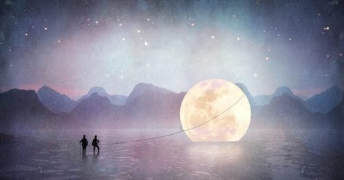 Ludzie z Księżycem na linie