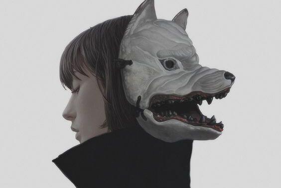 Okrutni ludzie - maska wilka.