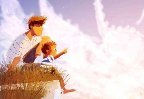 Ojciec z dzieckiem - wiara w siebie