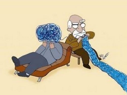 Chodzę do psychologa - pacjent i psycholog.