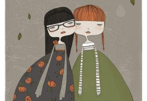Siostry w sukienkach