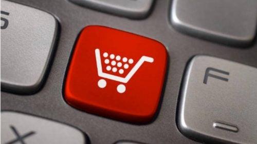 Symbol zakupów - przycisk.