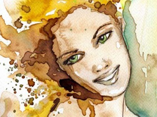 Uśmiechnięta kobieta - uśmiechnij się
