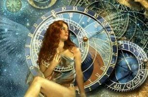 Życie zmienia się, gdy zmieniasz swoje nastawienie. Dziewczyna i zegary.
