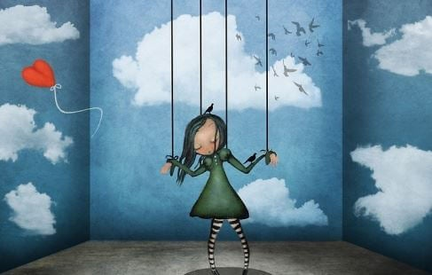 Cierpienie - dziewczyna marionetka