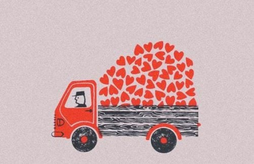 Ciężarówka z sercami
