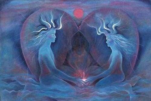 Dwie dusze trzymają się za ręce