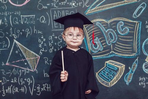 Dziecko absolwent.