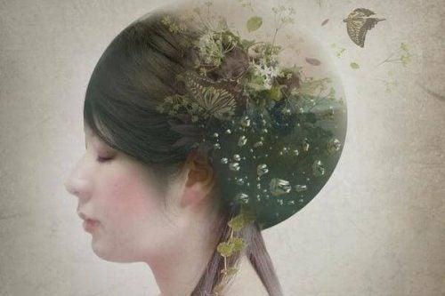 Głowa kobiety - toksyczne wpływy