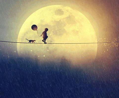 Indywidualizm - dziecko chodzi po linie