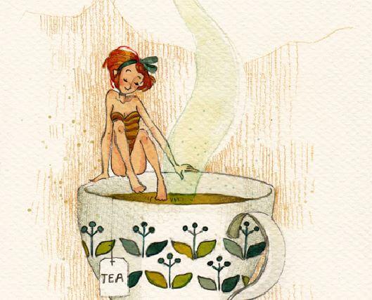 kąpiel w filiżance herbaty